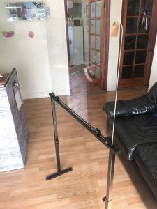 Height adjustable clear acrylic barrier